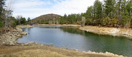 3 pan Goldwater Lake